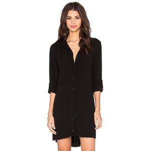 Button Down Shirt Dress in Black Splendid